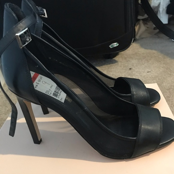 BCBG Shoes - BCBG black open toe heels